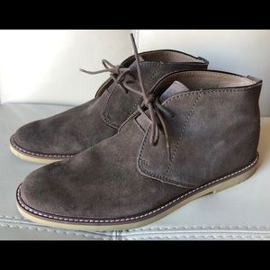 Suede Leather Desert Chukka Boots Light Brown 11 M